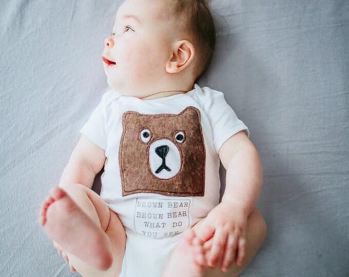 "Swanky Shank Gender Neutral ""Brown Bear, Brown Bear What Do you See"" Bodysuit or Tee"
