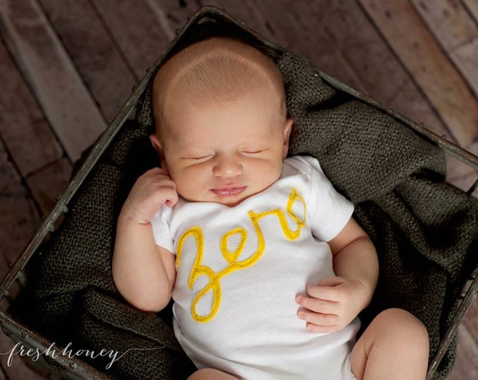 Swanky Shank 13 Month to Month Script Cursive Bodysuits