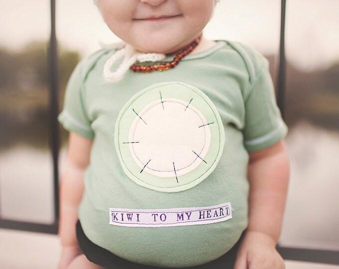 "Swanky Shank Gender Neutral Hand-Dyed Kiwi Top ""Kiwi to my Heart"""