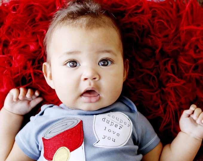 "Swanky Shank Hand Dyed ""I Souper Duper Love You "" Gender Neutral Tee or Bodysuit"