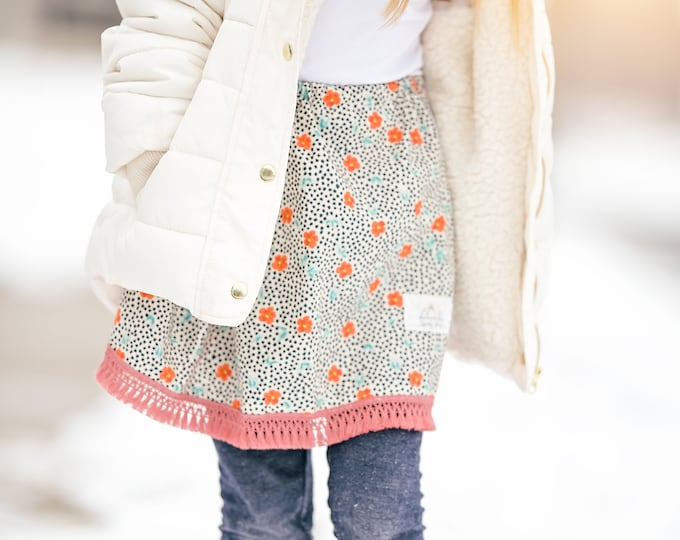 "Swanky Shank Girls ""Snow in Spring"" Twirl Skirt"