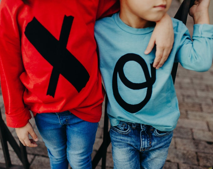 "Swanky Shank Valentine's Day Shirt ""We Go Together like an X and an O"" Valentine's Day Shirt for Siblings, Besties, Cousins or Neighbors"