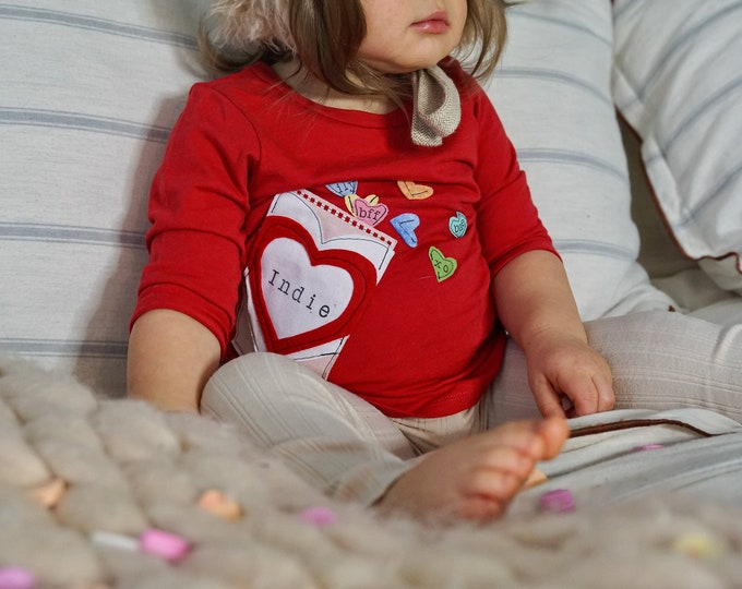 Swanky Shank Valentine's Personalized Conversation Heart Shirt