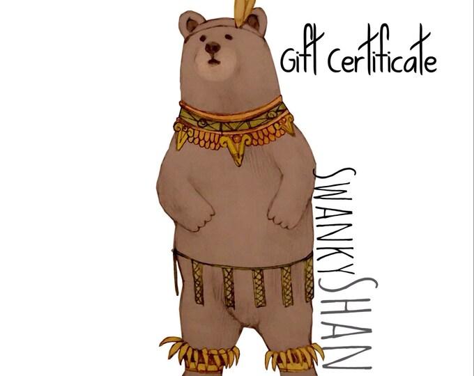 Swanky Shank Gift Certificate