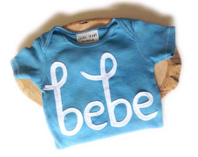 "Swanky Baby Hand Dyed ""Bebe"" Bodysuit"