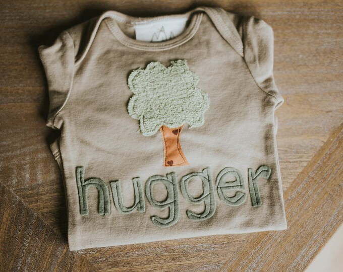 "Swanky Shank Gender Neutral ""Tree Hugger"" Hand-Dyed shirt or bodysuit"
