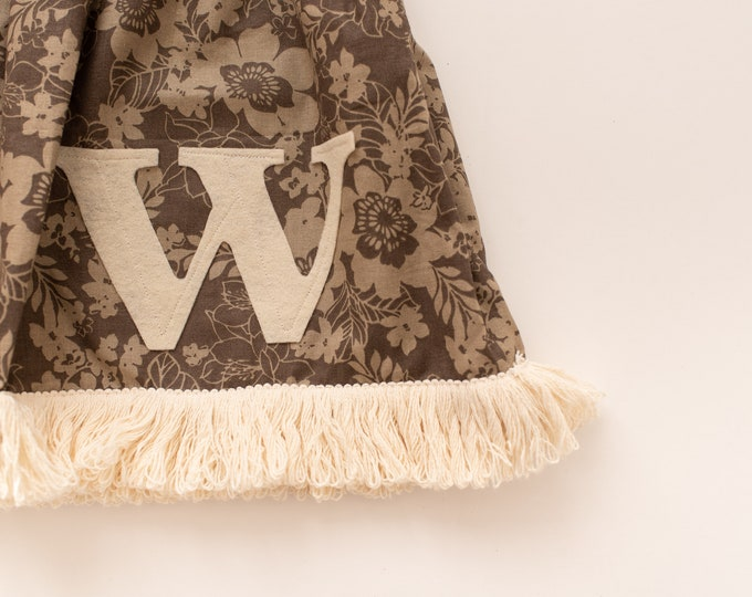 Swanky Shank Initial Fringe Skirt; Choose Your Own Initial
