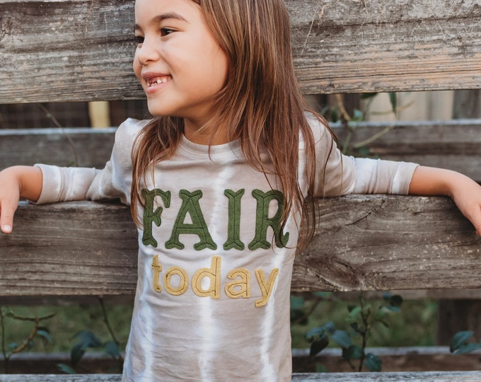 "Swanky Shank ""Fair Today"" Striped Dye Tee; Gender Neutral"