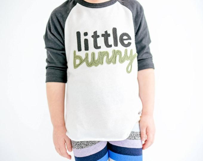 """Swanky Shank Easter Tee Baseball Tee """"Little Bunny"""""""
