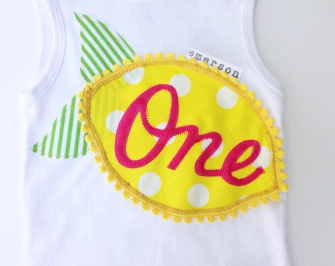 Swanky Shank Birthday Lemonade Tank or Bodysuit-- Choose Age