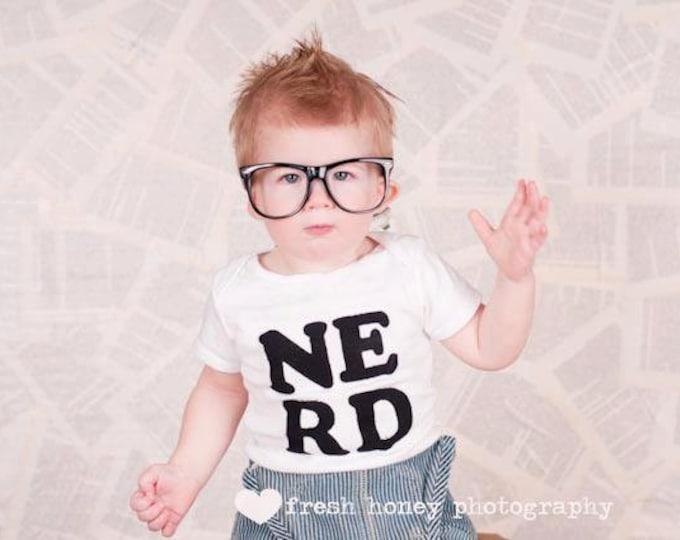 "Swanky Baby ""NERD"" short sleeved Bodysuit"