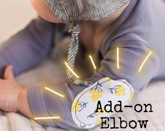 Add Elbow Patches Upgrade; Baby Elbow Patches; Kids Elbow Patches