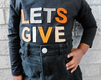 Give Thanks Friendsgiving Shirt | Thankful Shirt | Thanksgiving Shirt | Friendsgiving Kids | Grateful Shirt | Motivational Shirt