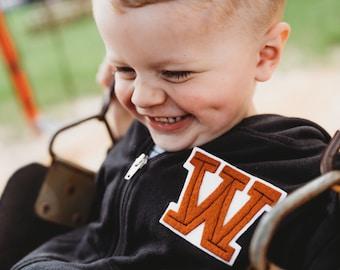 Toddler Hoodie | Back to school Sweatshirt | Back to School |  Letter Jacket | Letter Jacket Patch |  First day of school