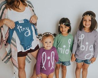Sibling Shirts | Big Sibling Shirt | Big Sister Shirt | Kids Big Shirt | Big Sibling Reveal | Colorful Sibling Tees