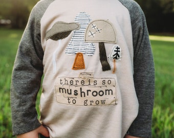 Mushroom Shirt | Mushroom to Grow | Toddler Mushroom Shirt | Mushroom Art | Mushroom Pun | Kids Mushroom Shirt | Kids nature Shirt | Toddler