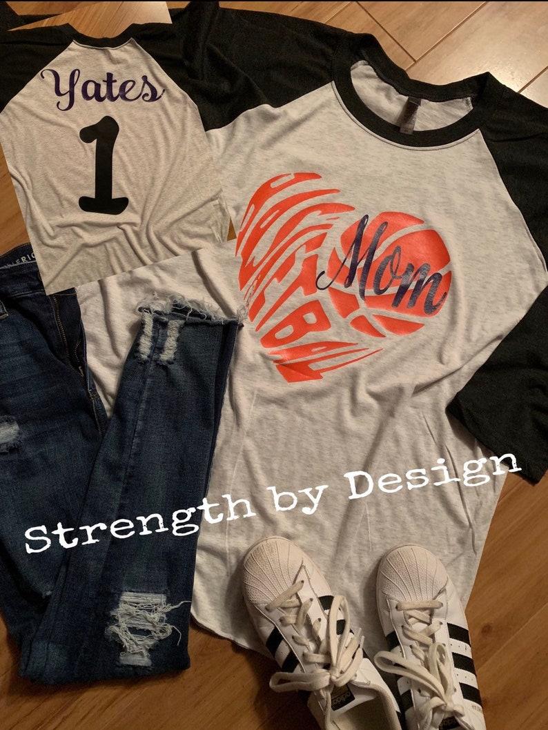 b294ed05df8 Basketball raglanbasketball mom shirt mom basketball   Etsy