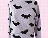 Hello Cavities Twinkle Twinkle Bat Sweatshirt in LAVENDER