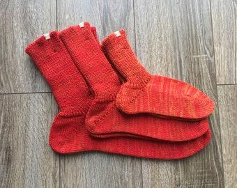 Family Sock Set / united design sock set / Family Gift for Christmas / red Sock Set / Outdoor