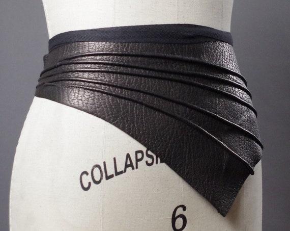 Genuine Leather Obi Belt - Real Leather Obi Belt - Women's Wrap Belt - Leather Wrap Obi Belt - Leather Accessories