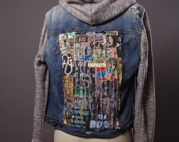 OOAK Denim Jacket - Graffiti Denim Jacket - One of a Kind Denim Jacket - Street Wear