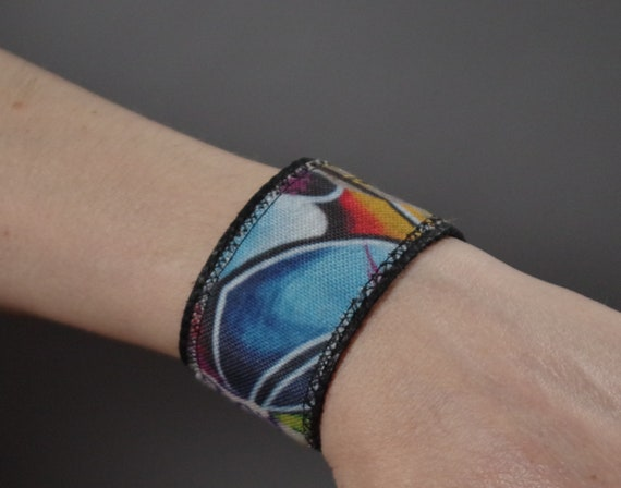 Graffiti  Leather Cuff Bracelet - Leather Cuff Bracelet - One of a Kind - Cuff Bracelets - Street Style