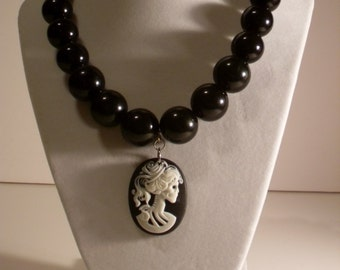 REDUCED PRICE 5 Dollars Off Skull Cameo Necklace