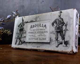 Antique Tobacco Tin Metal Box Abdulla