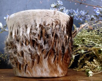 Vintage tribal drum in cow skin