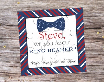 Will You Be My Ring Bearer Proposal Personalised Page Boy Puzzle Invitation Will You Be My Page Boy Proposal Gift Usher Wedding Invitation