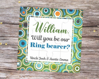 Will You Be My Ring Bearer Personalized Puzzle Invitation Will You Be My Page Boy Proposal Will You Be My Groomsman Ask Page Boy Gift