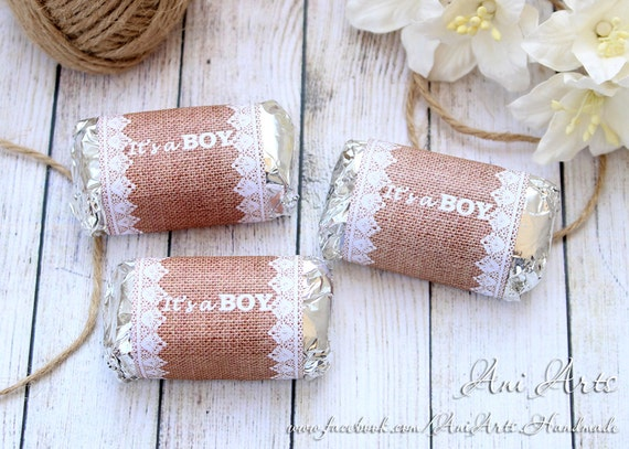 Rustic Baby Shower Favors Its A Boy Printable Mini