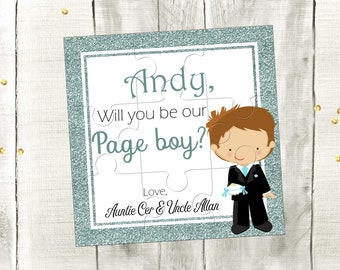 Be My Page Boy Personalized Puzzle Will You Be My Page Boy Invitation Will You Be My Ring Bearer Proposal Gift Wedding Invitation