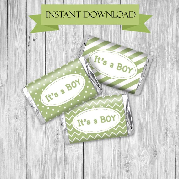it s a boy mini hershey pink wrapper instant download etsy