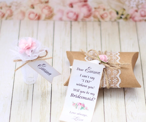 Will You Be My Bridesmaid Invitation Message In A Bottle Etsy
