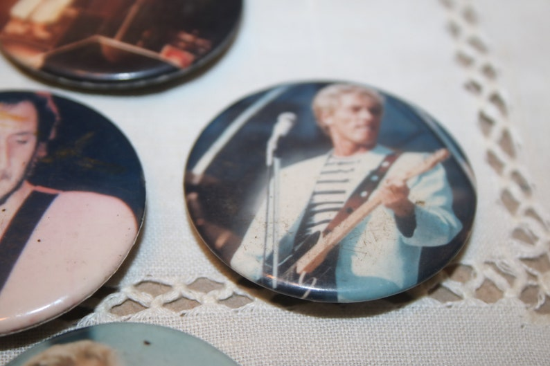 Lot of 6 The Who Music Vintage Button Pins Estate Jewelry Roger Daltrey