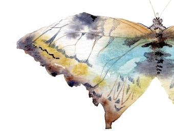 Butterflies GICLEE PRINT watercolor illustration, buttefly print