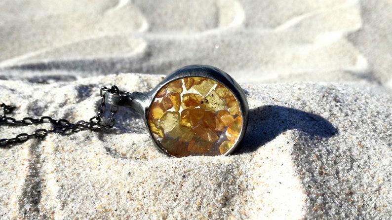 Terrarium Jewelry One of a kind Raw amber Pendant amber necklace terrarium
