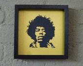 Jimi Hendrix Handmade Papercut Portrait