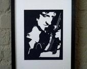 Brian May (of Queen) Handmade Papercut Portrait