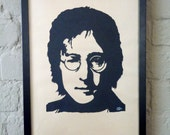 John Lennon Handmade Papercut Portrait
