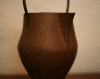Rustic copper bucket