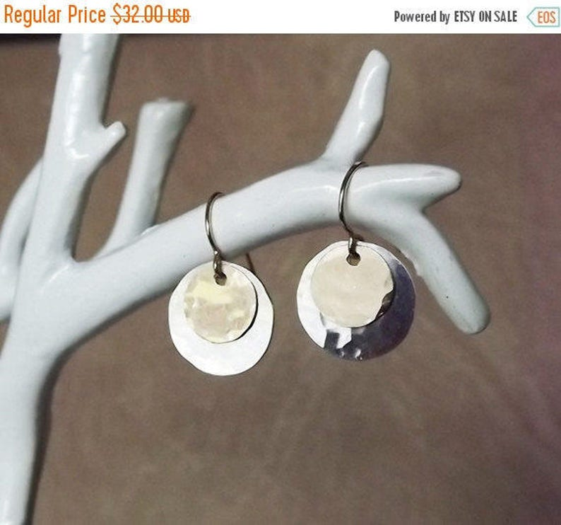 Dangle & Drop Earrings  Mix Metal Sterling and Gold Filled image 0