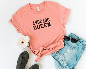 8779c5186e0 Avocado queen shirt funny t shirts with sayings tumblr grunge shirt graphic  tee for womens clothing fashion tops printed tshirt