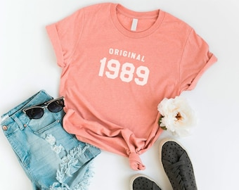 30th Birthday Shirt Tshirt Graphic Tee For Women Gifts Her 1989 T Shirts Unique Gift Mom