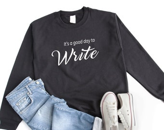 gift for writer its a good day to write book fan bibliophile gifts womens tees trending