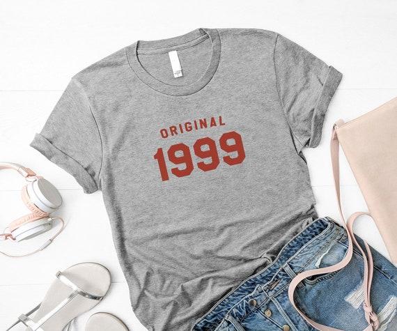 20e anniversaire chemises pour les graphistes femmes tee amie cadeaux d'anniversaire petite amie tee pour ses 90 s vêtements t shirts 1999 unique cadeaux originaux pour fille db8f26