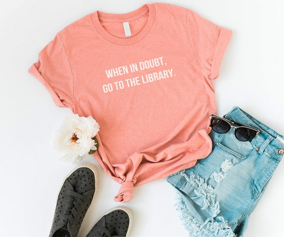 Book Lover Shirt Graphic Tees For Womens Tshirts Library Etsy