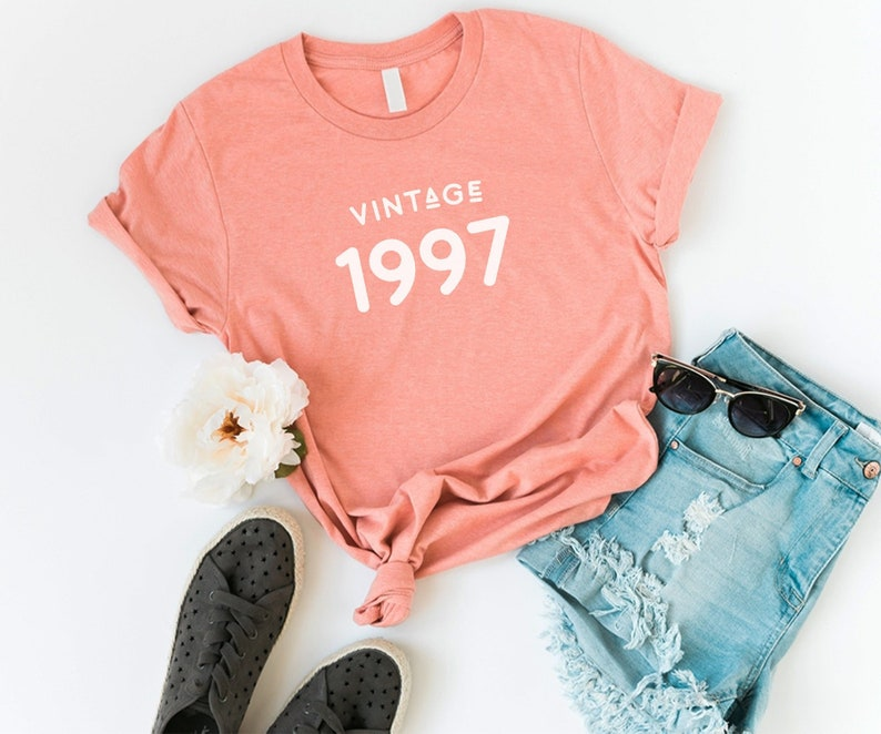 1997 Shirt Women Graphic Tee Vintage 22nd Birthday Gift For