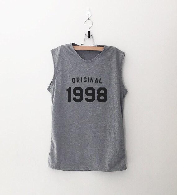 21 cadeau d'anniversaire pour ses 1998 anniversaire chemise femmes femmes chemise entraînement musculaire de la cuve pour vêtements femme graphique débardeur fitness gym 53d007